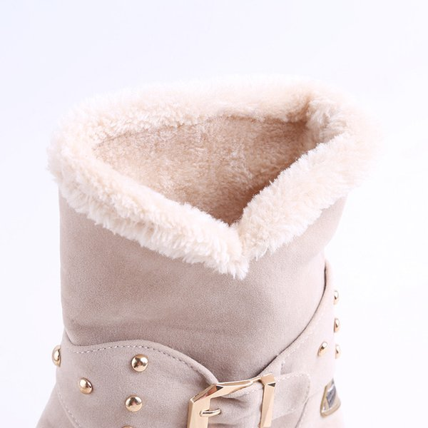 Warm Faux Fur Waterproof Snow Boots 2019 Brand Women Winter Boot Warm Shoes Antiskid Flexible Lady Fashion Casual Boots