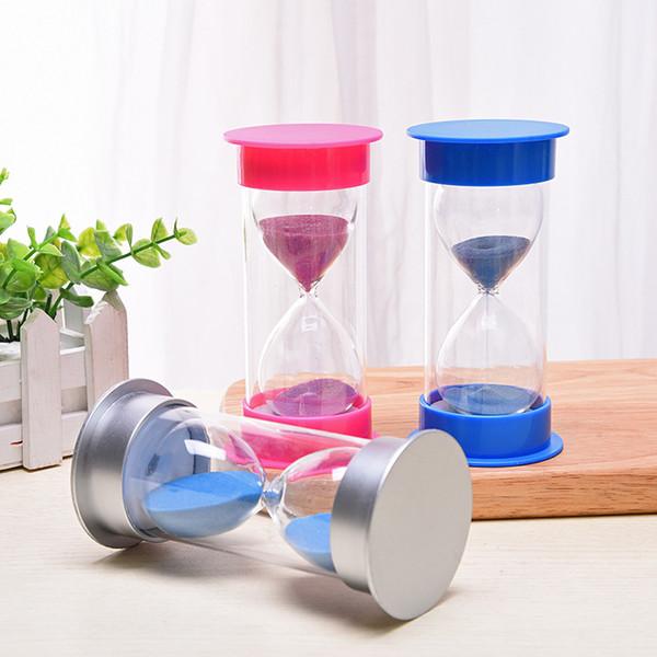 5/10/15/30/45/60 Minute Sable Sablier Minuteur Compte à rebours Chronométrage En Plastique Sablier Horloge Minuterie Décor À La Maison Cadeau Décoration De La Maison