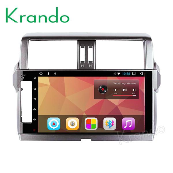"Krando Android 8.1 10.1"" IPS Full touch Big Screen car Navigation player for Toyota Prado 150 2014-2017 audio player gps wifi car dvd"