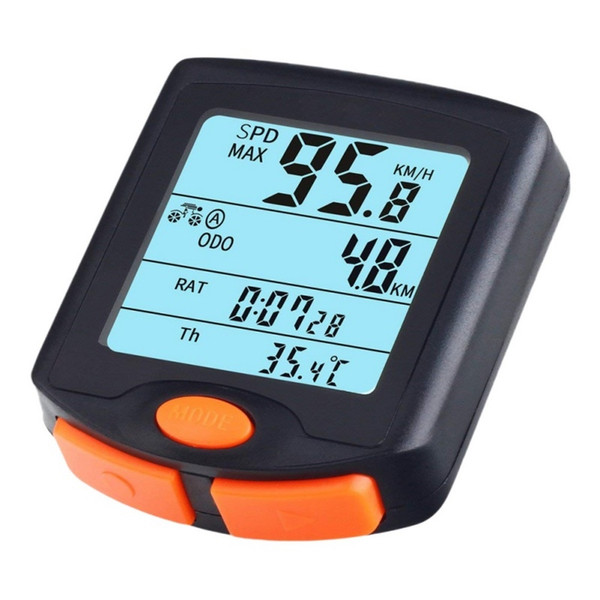 Wireless Stopwatch Bike Computer Bicycle Speedometer Cycling Odometer Multi Function Waterproof 4 Line Display With Backlight #212160