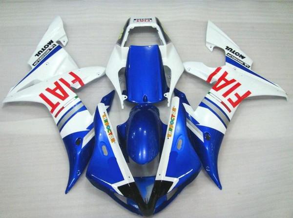 3Gifts New ABS carenagem da motocicleta completa kit de carenagens para YAMAHA YZF R1 2002 2003 carenagem YZFR1 02 03 YZF1000 YZF-R1 FIAT azul vermelho