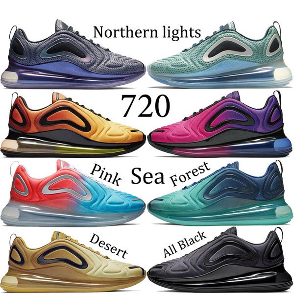 Northern Lights 720 러닝화 Mens Sea Forest Desert 720 디자이너 스니커즈 여성 핑크 Sea Sunrise 2019 새로운 에어 트레이너 US5.5-11
