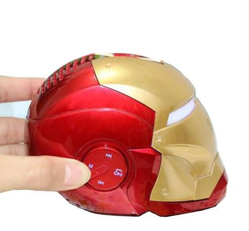 Iron Man Wireless Bluetooth Speaker bass Cartoon Gift Mini Shape Portable with TF FM for iphone computer xiaomi Toys Loudspeaker