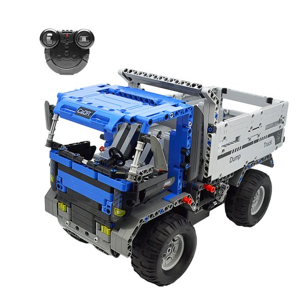 Cada Double E RC Tow Truck 638Pcs 2.4G Engineering Vehicle Remote Control Model Car Building RC Blocks For Children Gift 6.3km/h
