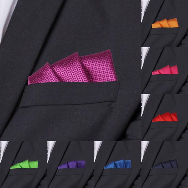 Mode Anzüge Einstecktuch Für Männer Business Brust Handtuch Taschentuch Herren Plaid Taschentücher Klassische Anzug Serviette Mens Taschentuch