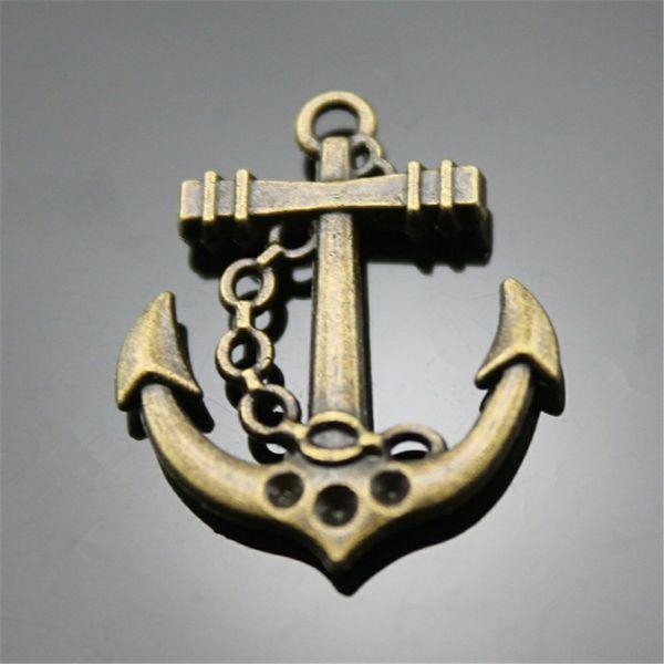 100 stücke Charm Anchor Vintage Anchor Charms Anhänger Für Schmuck Machen Antike Bronze Farbe Anchor Charms 20x25mm