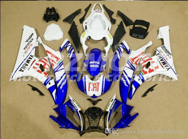 3 Free gifts New Injection ABS Fairing Kits 100% Fitment For YAMAHA YZF-R6 06-07 YZF600 2006 2007 R6 bodywork set Blue White color D3