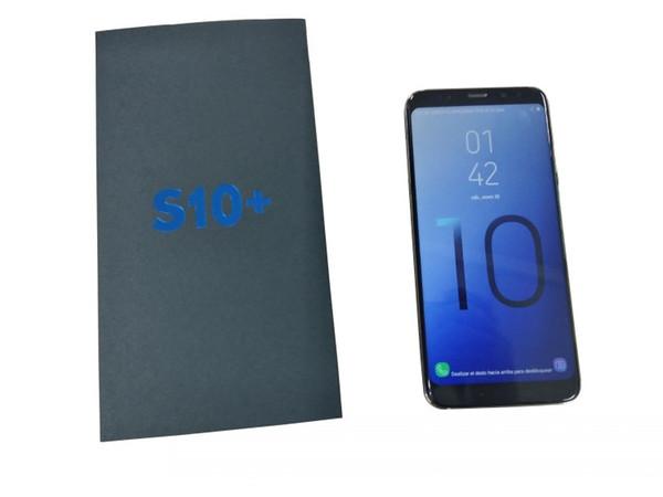 Goophone S10 S10 + Smartphones déverrouillés Double sim Android 8.1 octa core 1G RAM 8G illustrée Fake128 Go 4G LTE GPS 6.3 pouces Téléphones cellulaires
