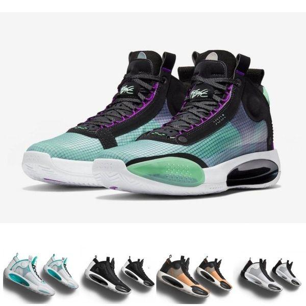 2019 34 XXXIV Bred Blue Void Men Basketball Shoes J34