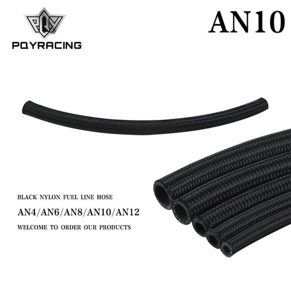 best selling PQY - 10 AN Pro's Lite Black Nylon Racing Hose Fuel Oil Line 350 PSI 0.3M PQY7314-1