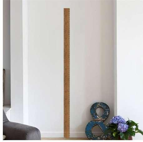 ruler height measure wall stickers for kids rooms children's home decor growth chart poster mural wall decal