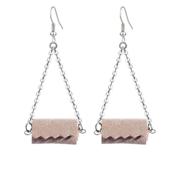 E1629 wooden colors earrings