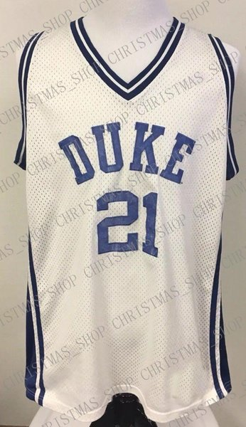 Cheap custom Vintage DUKE BLUE DEVILS Basketball Jersey White RARE Stitched Customize any number name MEN WOMEN YOUTH XS-5XL