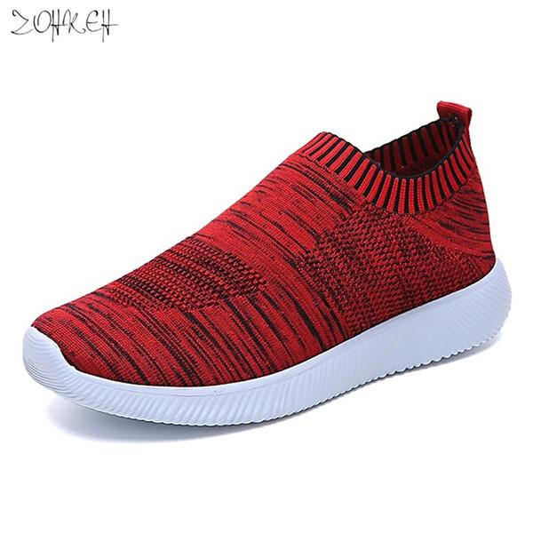 Sapatas das mulheres 2019 Moda Respirável Malha Sapatos Mulher Tênis Feminino Luz Macio Ladies Sneakers Confortável Feminino Esportes