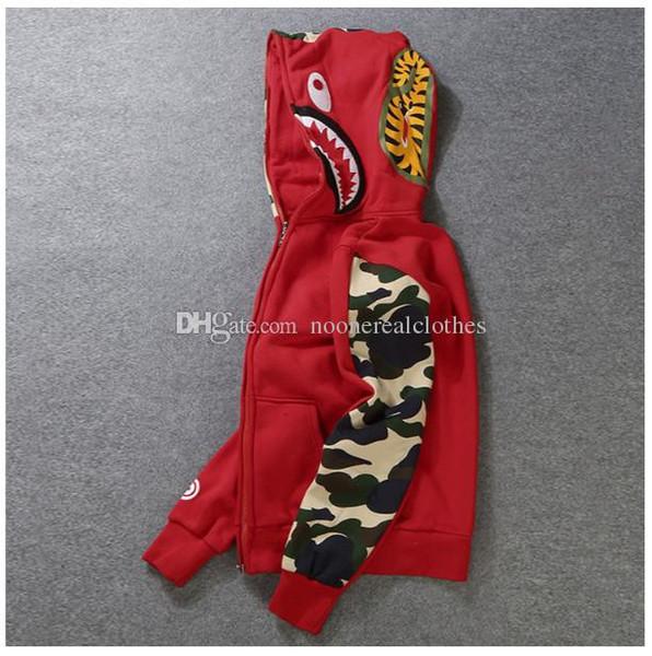 Mens donne Sportwear Coat Jogger Tuta Pullover Fleece Felpa girocollo Uccello OVO Drake nero Hip Hop stusay bocca con cappuccio Men Shark