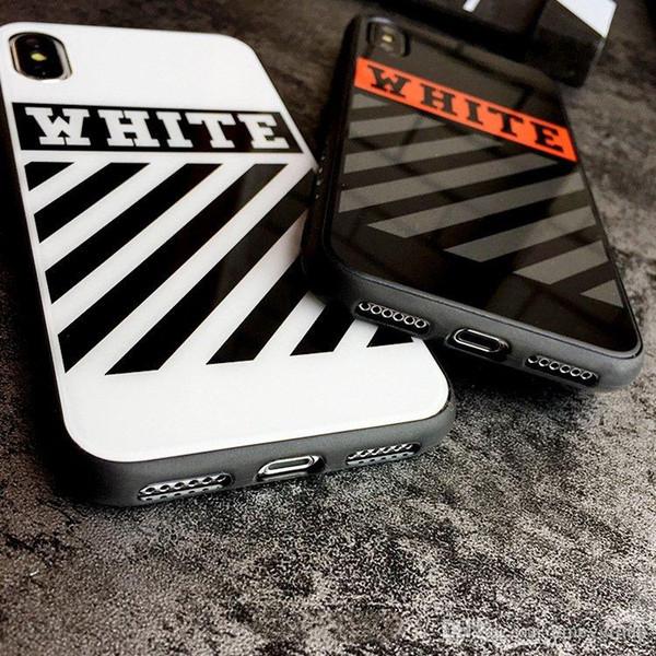 Nuova cassa del telefono HOT Fashion OFF per iPhone XS Max XR Specchio tpu + Custodia in acrilico Custodia bianca per iPhone X 10 XR XS 6 6S 7 8 Plus