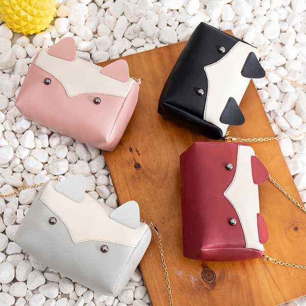 Manufacturer Direct Net Red Cat Handbags 2019 Japan And Korean Versatile Mini Contrasting Color Chain Shoulder Bag Crossbody Bag