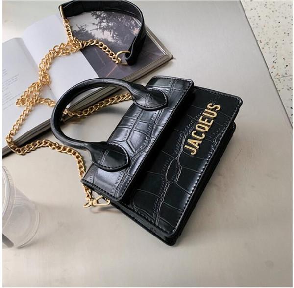 Borsa vendita calda Jacquemus progettista catena donne borsa Designer Donna PU borse a spalla in pelle Donne piazzetta Borse 182