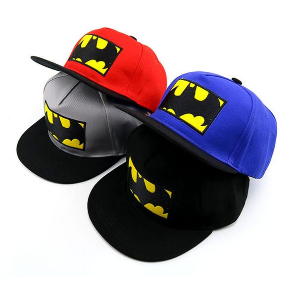 2019 Spdierman Çocuklar Çocuklar Için snapback kap Hiphop Beyzbol Kapaklar Düz Anime Örgü Şapka streetwear Boy Kızlar Siyah Beyaz Şapka 50 ila 54 cm T894