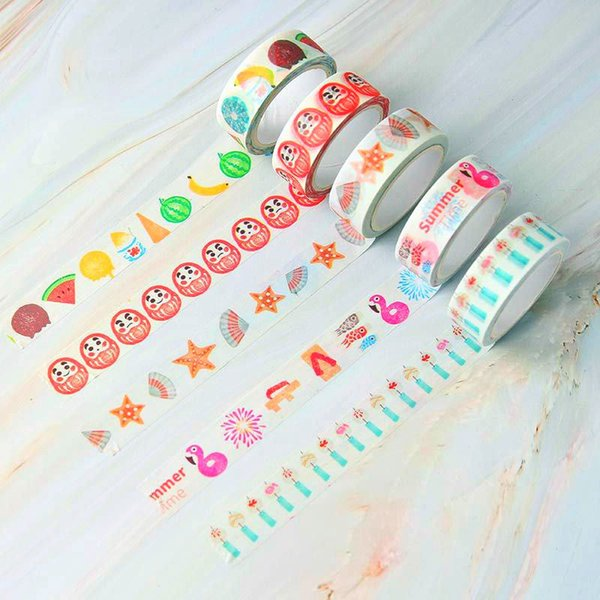 1pcs Sell Plants Flowers Masking Washi Tape Decorative Adhesive Tapea Decora Diy Scrapbooking Sticker Label Stationery
