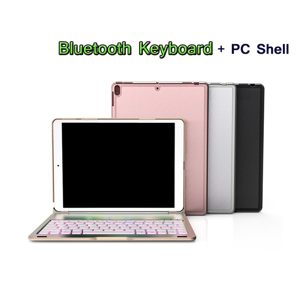 For iPad 10.5 Smart Sleep 7 Colors Backlit Light Wireless Bluetooth Keyboard Cover Case For iPad Pro 10.5 Case A1701 A1709