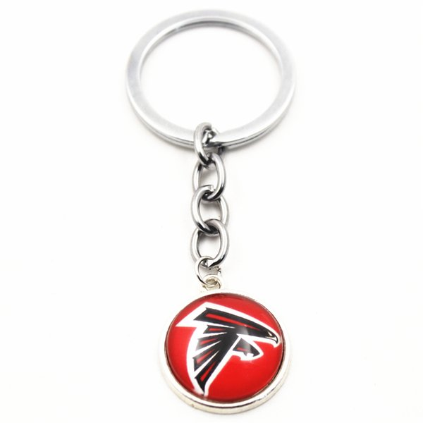 Brand New 10pcs I Love Football Sports Keychains Pendant For Women Men Silver Key Chains Key Ring Jewelry Charms