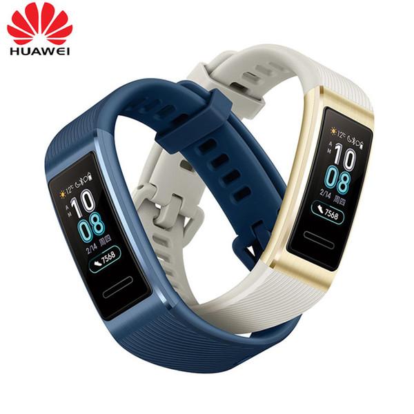 Orijinal Huawei Band 3 Pro Smartband GPS Metal Çerçeve AMOLED Tam Renkli Ekran Dokunmatik Swim İnme Nabız Sensörü Uyku