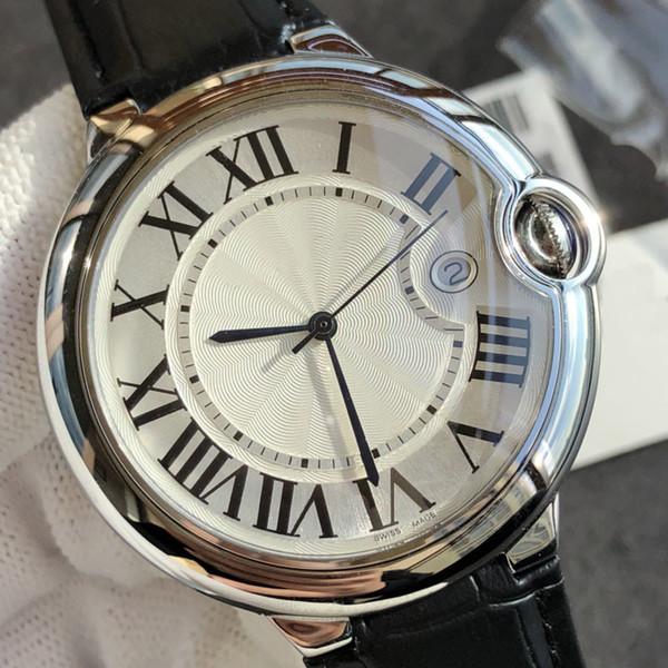 Nueva moda de calidad superior reloj de lujo diseñador de la marca movimiento de cuarzo suizo relojes ultrafinos correa de cuero genuino precio de descuento el mejor regalo