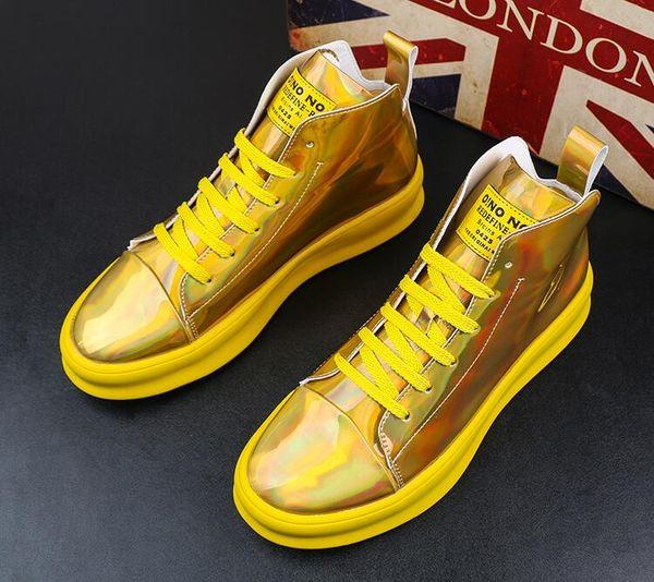 autumn fashion Men's Casual shoes Punk mens platform shoes High tops Man Ankle boots Men's sneakers trainers
