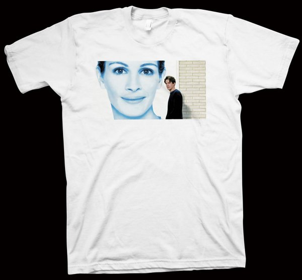 Notting Hill T-Shirt Hugh Grant, Julia Roberts, Hollywood Movie Cinema Film Short Sleeve Plus Size t-shirt