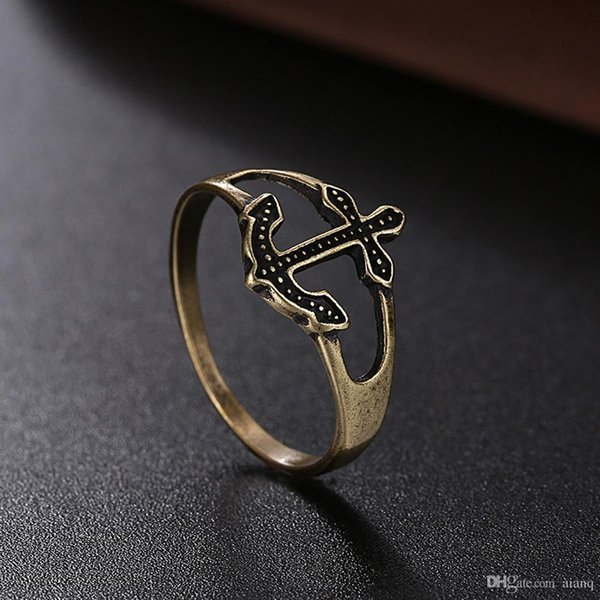 New! Retro Wind Fashion Fashion Women's Ring Ancient Bronze Eros Arrow Ring Women's Christmas Party Rings Jewelry Free Shipping