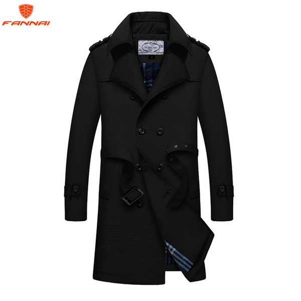 2019 New leisure Trench Coat Men Double Breasted Mens Coat Autumn and winter men's Long Jackets & Coats Overcoat