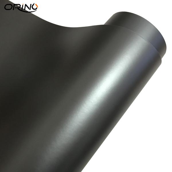 Antracite grigio scuro opaco metallizzato auto cromato vinile adesivo pellicola avvolgente con canali d'aria Gunmetal grigio scuro satinato veicolo wrapping