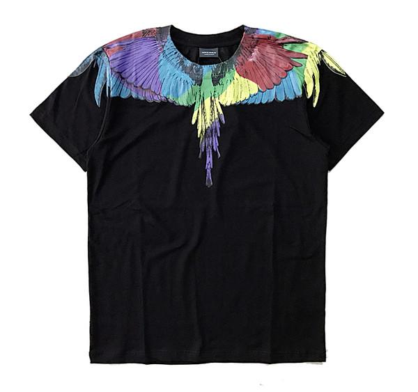 ss nuevo Marcelo Burlon Camiseta Hombres Milan Feather Wings Camiseta Hombres Mujeres Pareja Desfile de moda RODEO MAGAZINE Camisetas Goros camisetas M-XXL