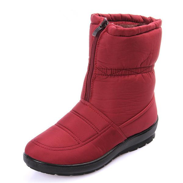 Winter Marke Baumwolle 2019 Mutter Großhandel Schnee Casual Herbst Weiblich Wasserdichte Rutschfeste Stiefel Warm F030 Frauen Schuhe ZOXPkiTuw