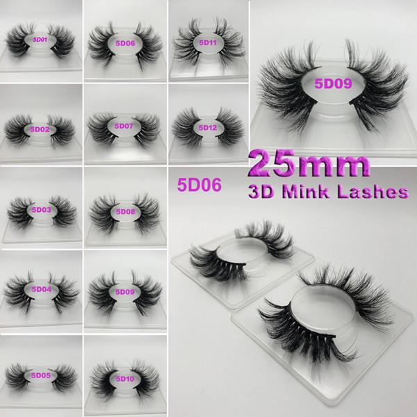 Süper Uzun 25mm Yüksek Kalite 3D Ipek Protein Kirpikler Dramatik Kirpikler 25mm El Yapımı Yanlış Kirpik Göz Makyaj Maquiagem