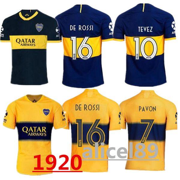 19 20 Boca Juniors CARDONA GAGO Ev Mavi Futbol Formaları TEVEZ ALIBA Deplasman Beyaz Futbol Gömlek Yeni Kulübü PAVON Kısa camisetas de futbol XXL