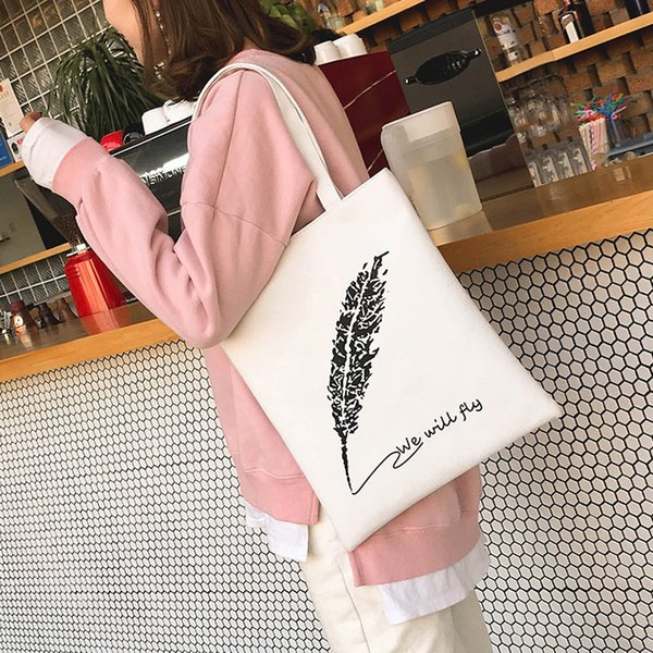 Fashion Girls Women Designer Printing Bag Simple Letter Canvas handbags Shoulder Bags Handbag Popular 2019