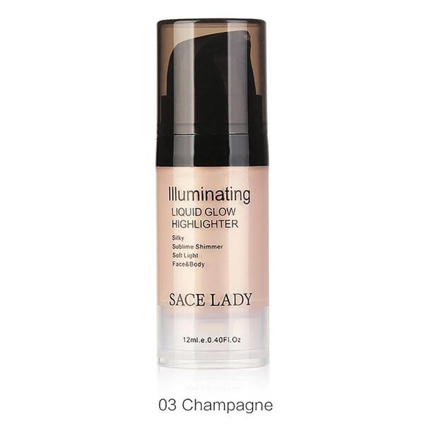 1 PZ SACE LADY Brightening Liquid 12ml 3 Colori Liquid Gloss Facial Lip Body Highlighter Ultra True Match blendable Glow Make Up Your Beauty