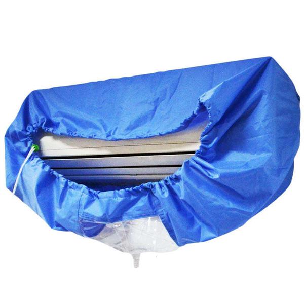 Copertura del condizionatore d'aria Lavaggio a parete Condizionatore d'aria Pulizia Protezione antipolvere Coperchio pulito Strumento Cintura di serraggio per 1-3P T190915