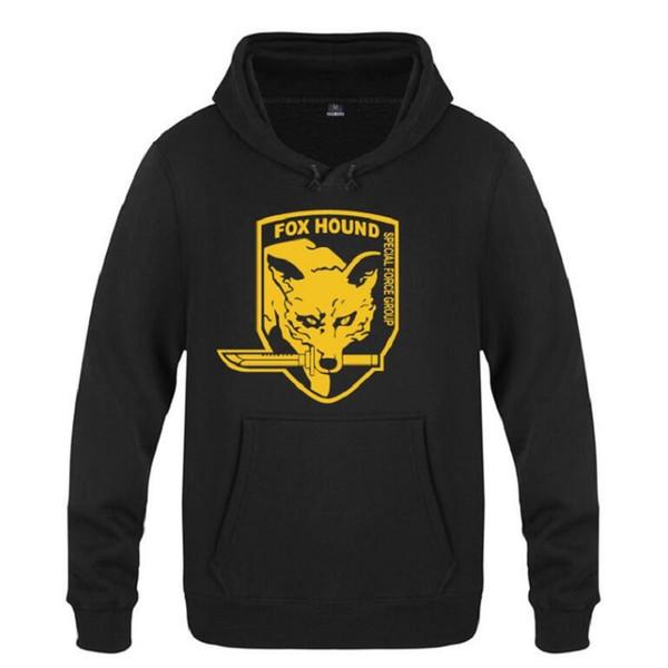 Metal Gear Solid MGS Fox Hound Video Game Hoodies Men Fleece Long Sleeve Sweatshirts Pullover Winter Cool Streetwear Tracksuit