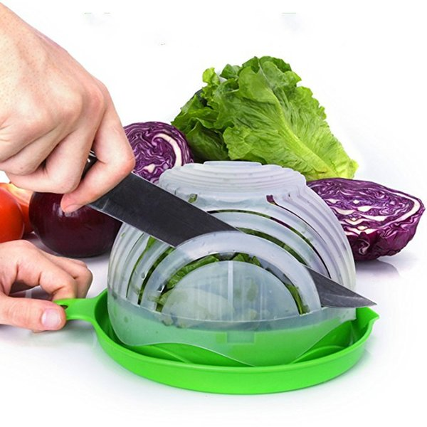 Free Shipping NEW 60 Seconds Salad Cutter Bowl Easy Salad Maker Kitchen Tools Fruit Vegetable Cutter