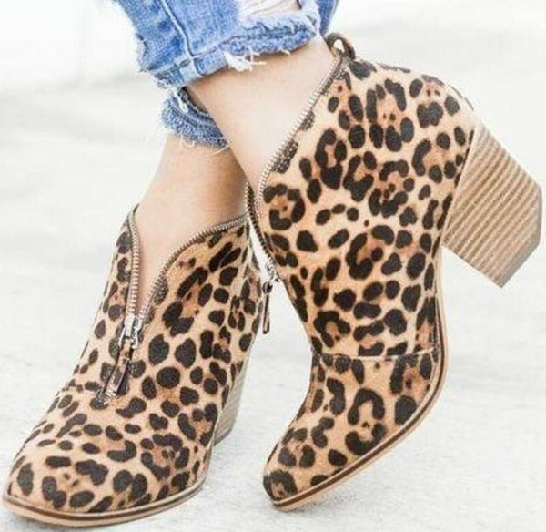 Charm2019 Sapato Feminino Women Ankle Boots Chunky High Heels Pumps Shoes Gladiator Chaussure Vintage PU Suede Booties TA0004