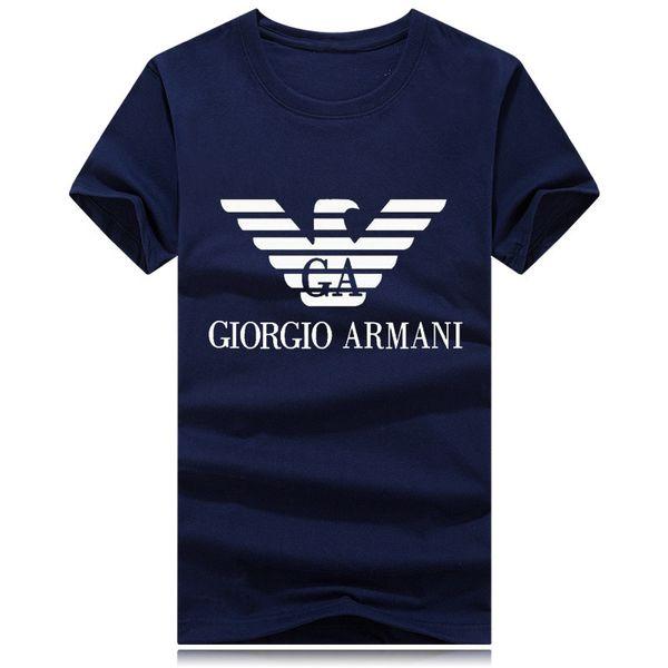 Erkek Tasarımcılar T Shirt Moda Erkek Giyim 2019 Yaz Casual Streetwear Tişörtlü Perçin Pamuk BlendEA7
