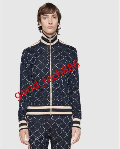 2019 tasarımcı erkekler ceket çift ceket pantolon uzun kollu lüks sonbahar spor fermuar rüzgarlık tasarımcı erkek kadın pantolon cek ...