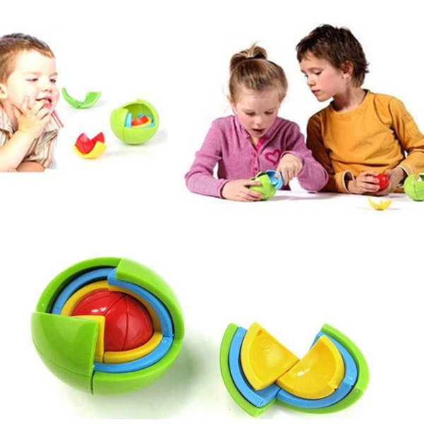 Nuevo 3D Magic Intellect Puzzle Maze Ball Brain Teaser Game Educations para niños IQ Training Logical Puzzle Children Toy Entrega gratis