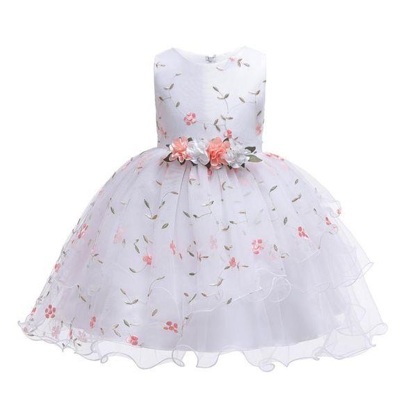New Christmas Princess Girls Party Dresses For Party Baby Fashion Pink Tutu Dress Girls Wedding Dress Kids Dress Q190522