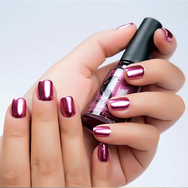 Smalto per unghie metallico Specchio effetto glitter Vernice cromata Lacca per manicure Manicure Flash Base Nail Art