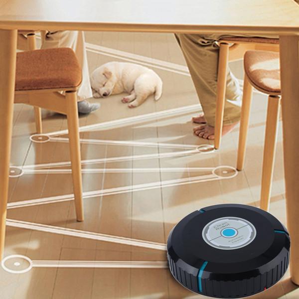 Auto Cleaner robot intelligente in microfibra Robotic Mop Cleaner Dust pulizia per pavimenti Corners bianco / nero di trasporto di goccia