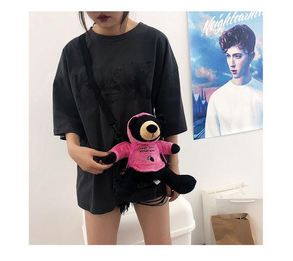 Cute And Ugly Doll Bears Cross BodyWomen's Versatile Street Girls Shoulder Bag New Fashion Small Bag